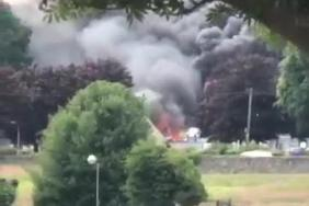 WATCH: Two taken to hospital and property destroyed after Bessbrook fire