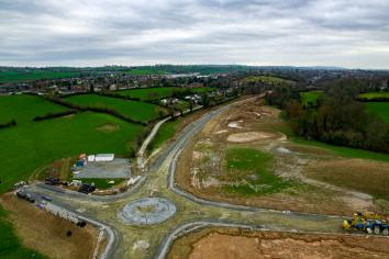 Aerial view of link road progress