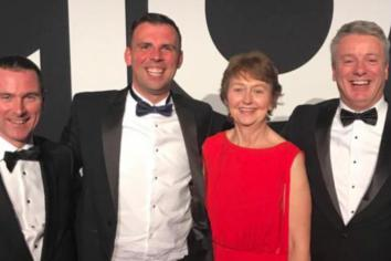 Karl shows the 'wannabes' how its done to scoop gold at UK Construction Awards