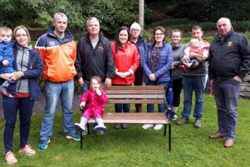 Special suicide memorial bench is unveiled in poignant riverbank ceremony at Tassagh