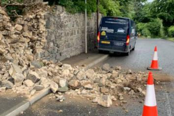 'Landlocked' crumbling Richhill wall should be set back: Speers