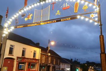 Two miles of bunting ensures Twelfth celebrations will go on in Markethill