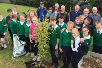 Keady Men's Shed join in school garden project