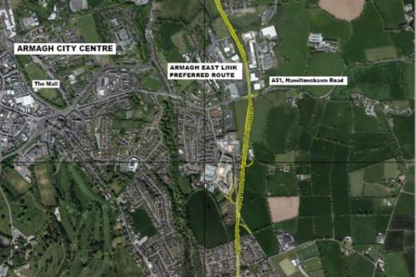 Preferred route for the Armagh East Link Road confirmed