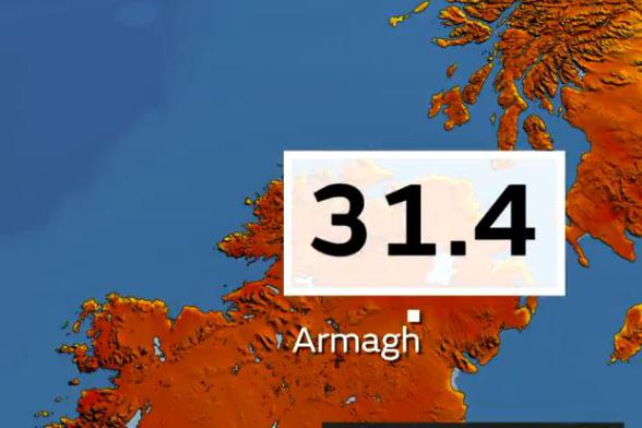 31.4 - Armagh breaks NI's hottest day record